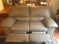 Leather love seat with recliners  Burke