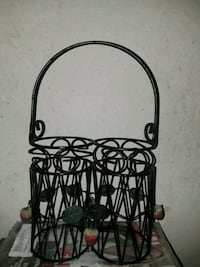 black metal framed glass candle holder Edinburg, 78539