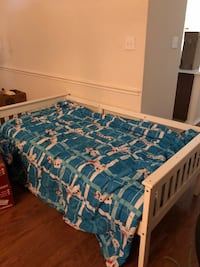 blue and white floral bed mattress Allen, 75013