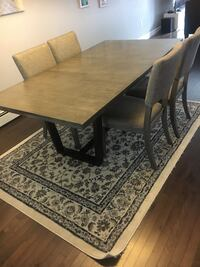 Dining table and chairs, Grey wood Dartmouth, B2W 0J5
