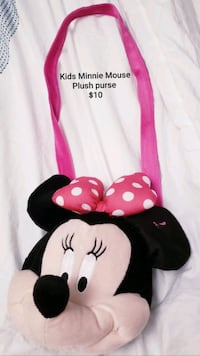Kids Minnie Mouse Plush purse - $10 Toronto, M9B 6C4