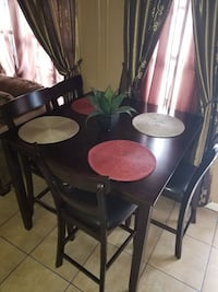 brown wooden dining table set Anaheim