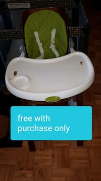 Free high chair with purchase. Mississauga