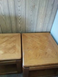 3 Solid Oak End Tables Thomasville, 27360