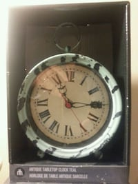 Antique Tabletop Clock Teal Mississauga, L5N 2X2