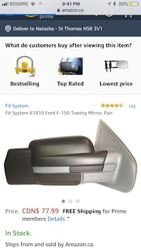 New Fit System 81810 Ford F-150 Towing Mirror, Pair London, N5V 4W4