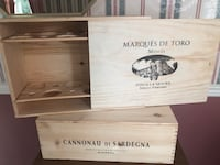 Wooden boxes storage crate