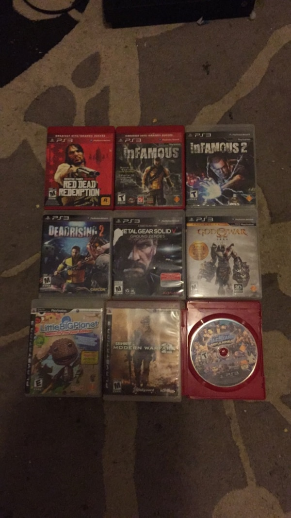 Assorted sony ps3 game cases