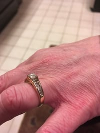 Ring, Real Diamonds, over 1 Ct, 14k gold, size 7