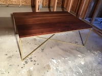 rectangular brown wooden coffee table Langley, V3A 2G5