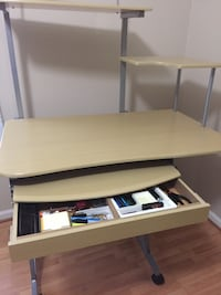 Desk with hutch. And CPU stand no shown H52,W39, D24 Woodbridge, 22191