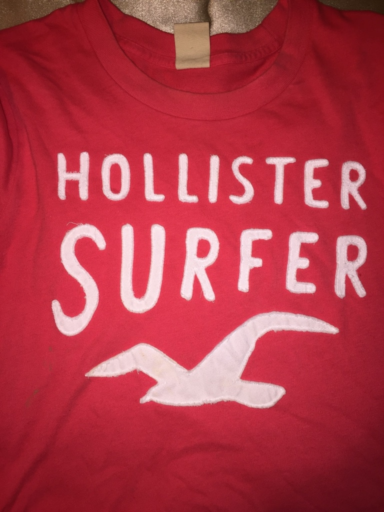 Letgo large pink and white hollister surf in fresno ca for T shirt printing fresno