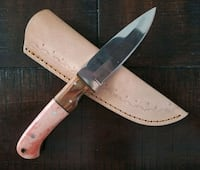 1095 Drop Point w/ rosewood and dyed camel bone Frederick