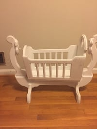White wooden doll cradle  Rockville, 20851
