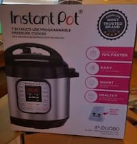 Instant Pot 7-in-1 Pressure Cooker 6 qt - Stainless Steel ASHBURN