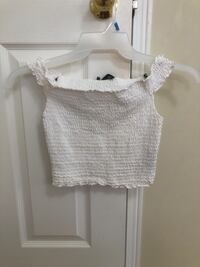 FOREVER 21 WHITE RUFFLED CROP TOP! Newmarket, L4G 7G1
