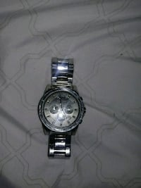 round silver-colored chronograph watch with link bracelet Gaithersburg, 20878