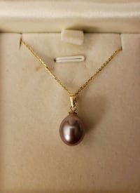 18K SOLID GOLD SOUTH SEAS PEARL PENDANT & NECKLACE Pearl City, 96782