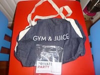 black Gym & Juice duffel bag