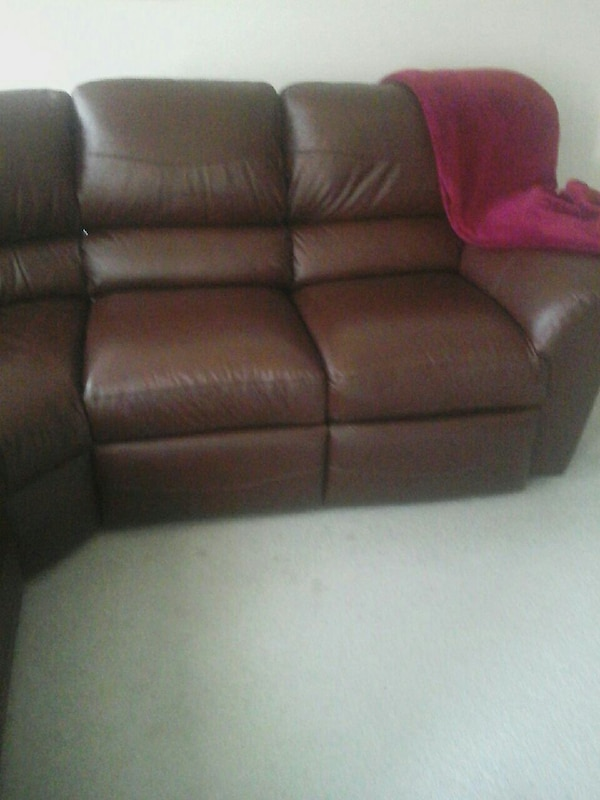 Groovy Brand New Brown Leather Sectional Bralicious Painted Fabric Chair Ideas Braliciousco