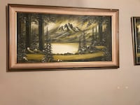 brown wooden framed painting of trees Wenatchee, 98801