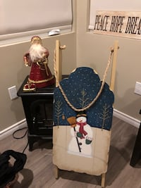 St nick tree topper and Xmas sled with free delivery London