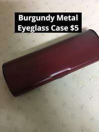 Burgundy Metal Eyeglass Case Toronto, M1S 2Y5
