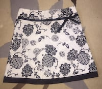 Skirt black and white long new