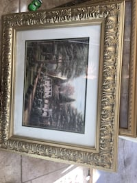 brown house painting with brass frame Yuba City, 95991