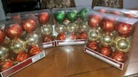 Christmas decorations 5 packs of 9 brand new  Brampton, L6S