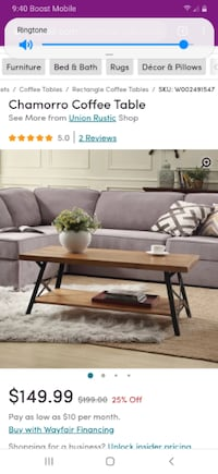 New in box coffee table!!