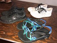 pair of gray-and-blue Nike running shoes Tarpon Springs, 34689