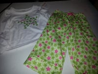 NEW Gymboree Gymmies WISHING ON A STAR green pink white pjs girl 12-18 months  Rockville