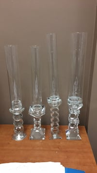 clear glass candle holders $10 each it comes with candle and glass cubes Vaughan, L4L