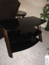 black wooden 3-layer TV stand Edmonton, T5H 2X3