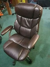Leather rolling chair w/armrest/adjustable height  Silver Spring, 20902
