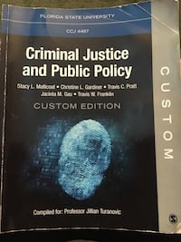 Textbook for CCJ4497 with Turanovic Tallahassee, 32304