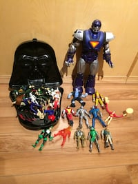 assorted action figures collection