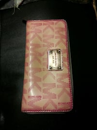 white and pink Michael Kors leather wallet Theodore, 36582