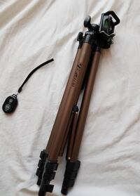 """50 in"""" adjustable tripod stand with phone holder and bluetooth clicker Mississauga, L5M 7A5"""
