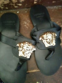 pair of black leather sandals Milwaukee, 53206