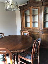 brown wooden dining table set Innisfil, L9S 2C7