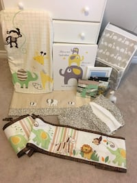 Animal themed baby bedroom/bedding set
