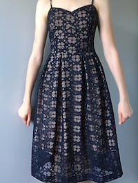 RW & Co formal Navy and Rose lace dress Calgary, T2A 4Y9
