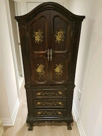 brown wooden hand painted cabinet Richmond Hill, L4C 4B3