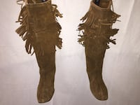 "Brown 17-1/2"" High Top boots with hard soles. Pleasant Prairie, 53158"