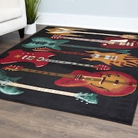 NEW Acoustic Electric Guitar Fender Musical Instrument Carpet Area Rug (Red and Black) BRAND NEW Richmond, 23220