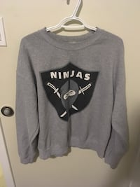 gray and white Oakland Raiders pullover hoodie Nanaimo, V9T 1G6