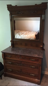 Antique Eastlake Bedframe and dresser Oak Brook, 60523