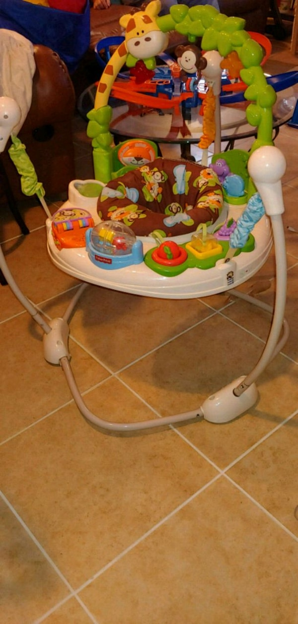 3e006524b2fc Used Fisher-Price Go Wild Jumperoo Activity center for sale in ...